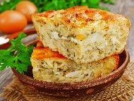 Руска баница с бутер тесто, зеле и яйца